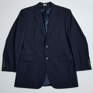 Jos A Bank Deep Navy Blazer - Bronze Buttons - 39R